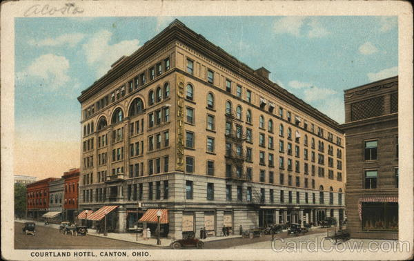 A postcard of the Courtland Hotel 1924
