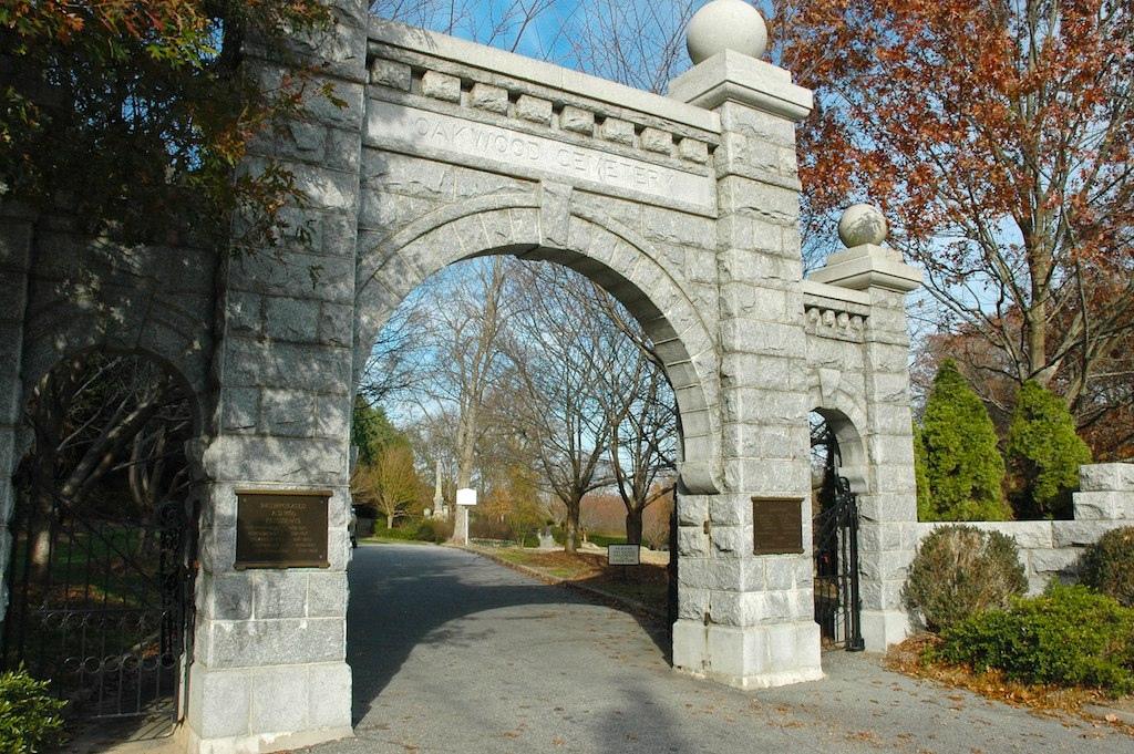 Gate of Historic Oakwood Cemetery