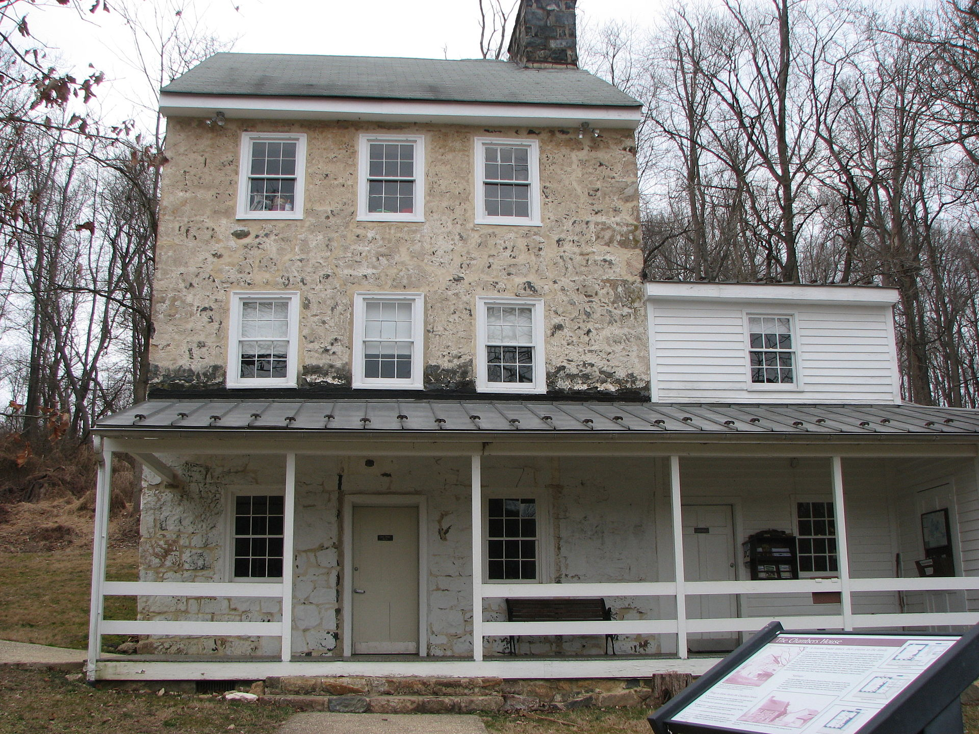 The Chambers House, now the White Clay Creek State Park nature center.