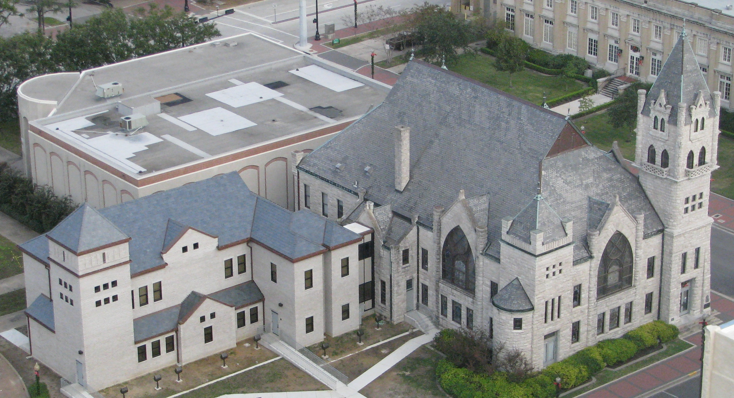 The Tyrrell Historical Library was built in 1903, replacing a red-brick church on the same location.
