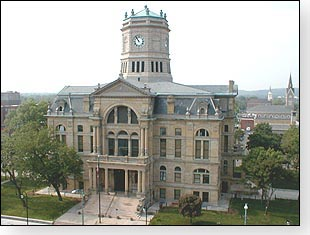 Here is a picture of the old Butler County courthouse located in the historic district of Hamilton, Ohio.