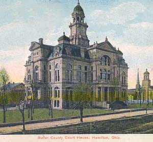 This is a picture of the Butler County courthouse from 1908.