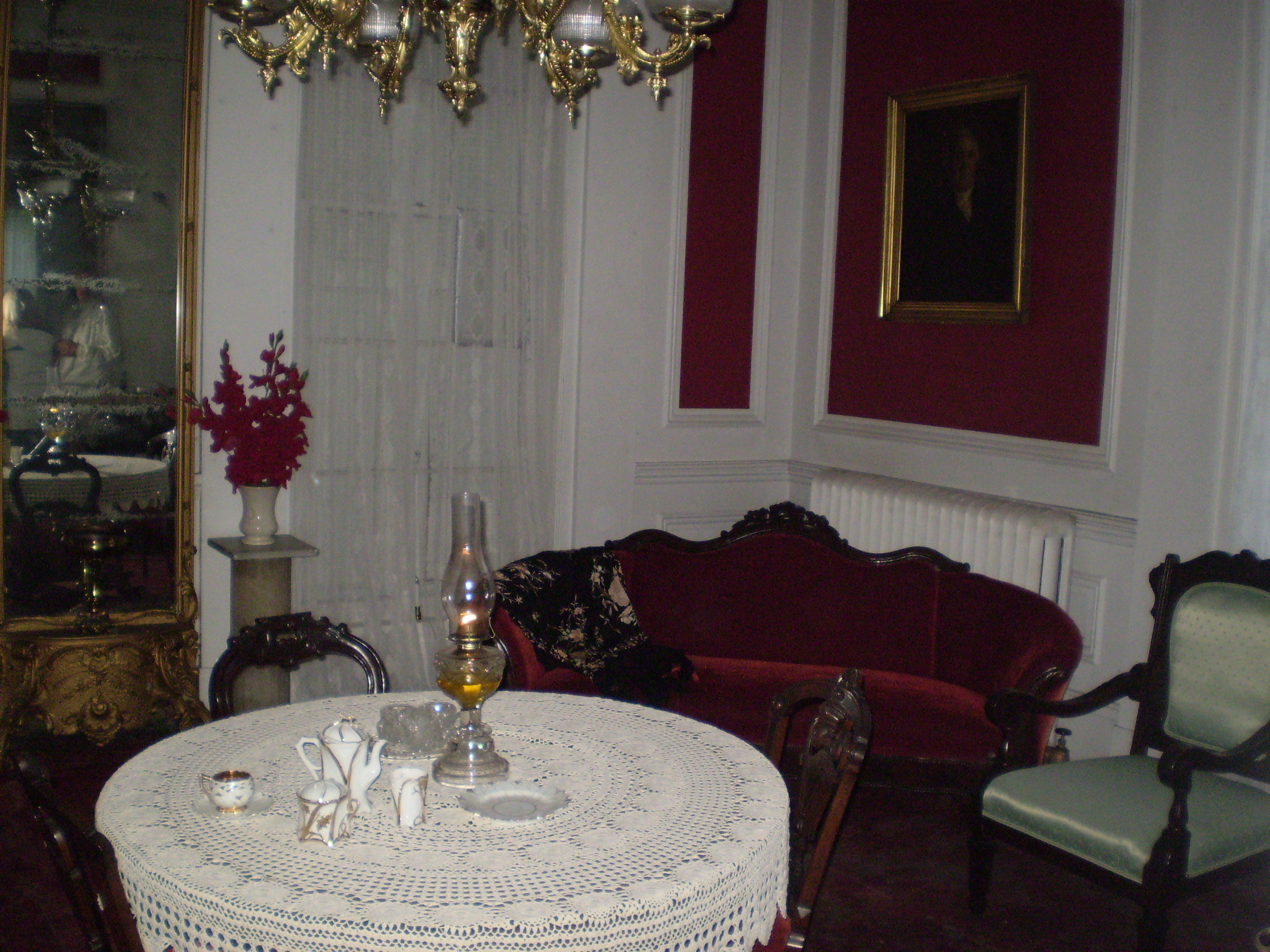 Victorian style sitting room within the castle