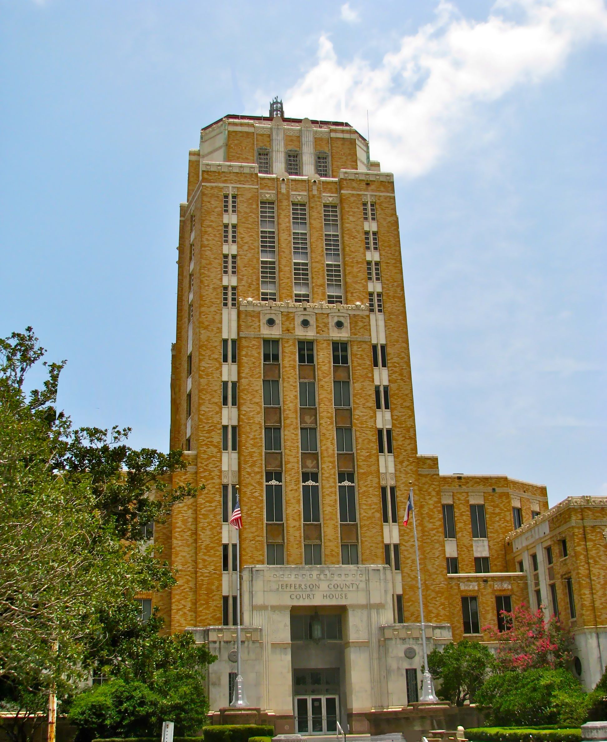 The Jefferson County Courthouse was constructed in 1931 and is among the tallest courthouses in the state.