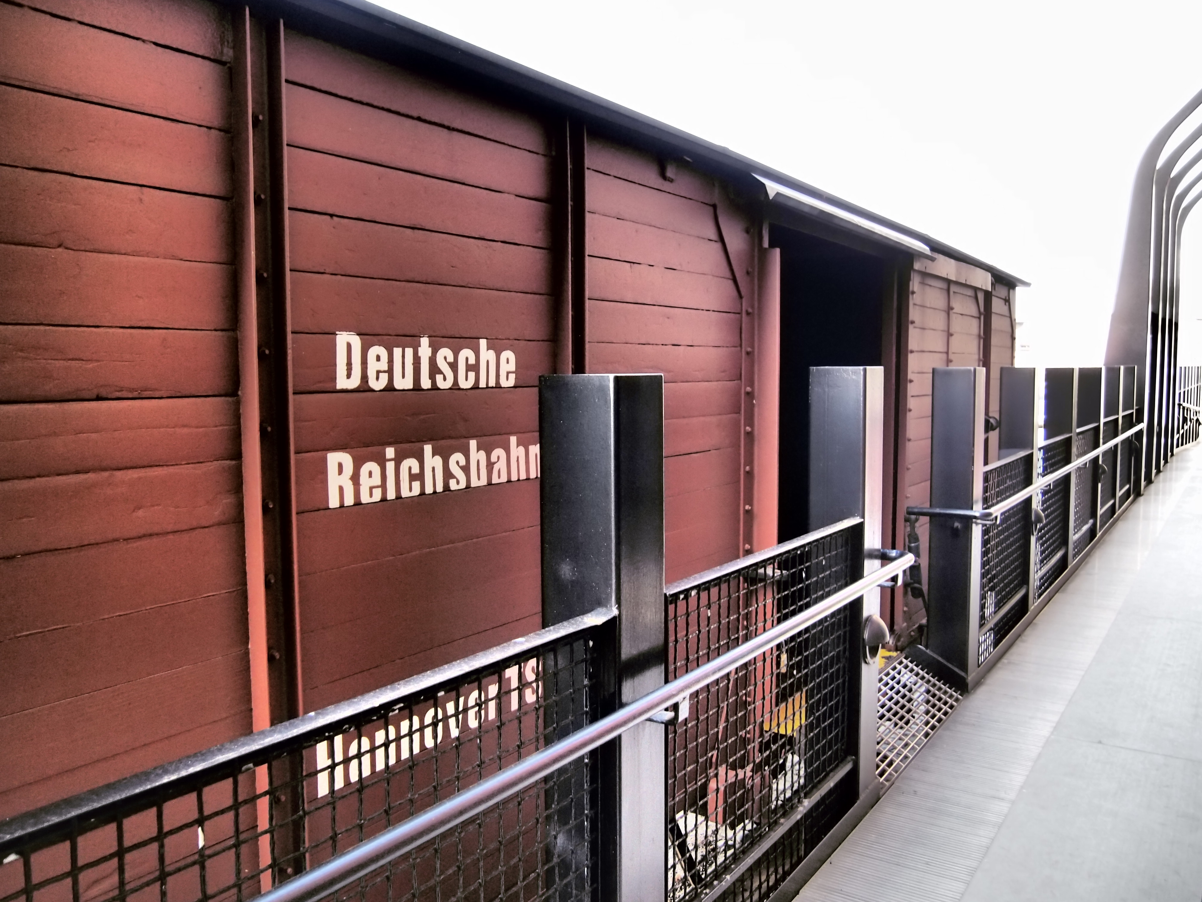 View of our authentic German boxcar.