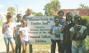 Students attend the a free summer camp that is sponsored by the museum.
