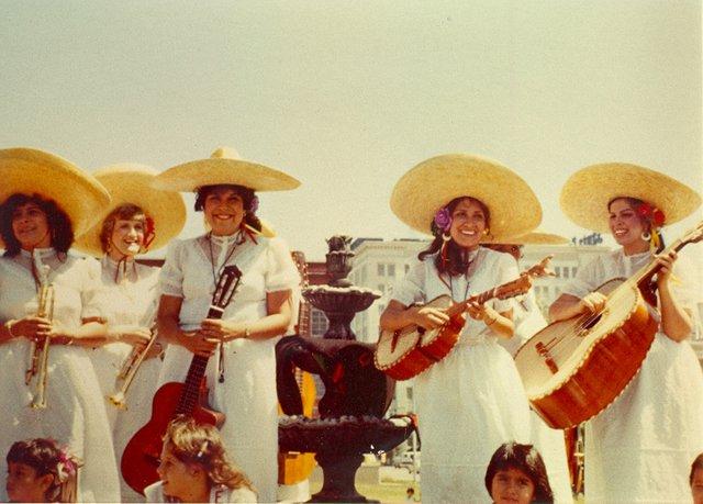 Members of Mariachi Estrella de Topeka included (from left) Dolores Carmona, Linda Scurlock, Dolores Galvan, Connie Alcala and Rachel Galvan Sangalang.