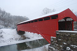 The Barrackville Bridge is the second-oldest covered bridge in West Virginia