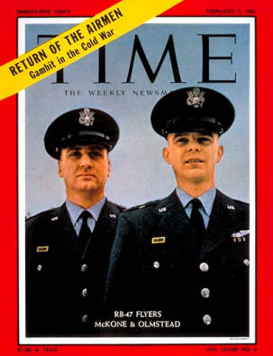 Captain McKone and Olmstead on the cover of Time Magazine