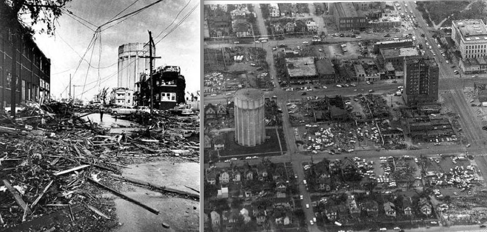 Images of destruction