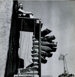 1948 LIFE photo of Mary Lou on winding staircase