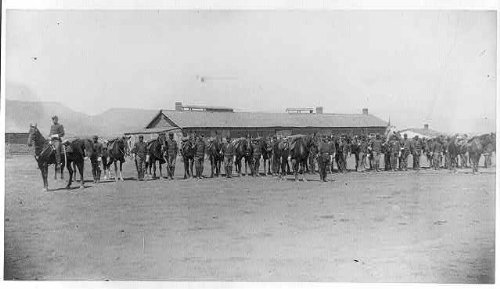 Buffalo Soldiers at Camp Verde circa 1880s.
