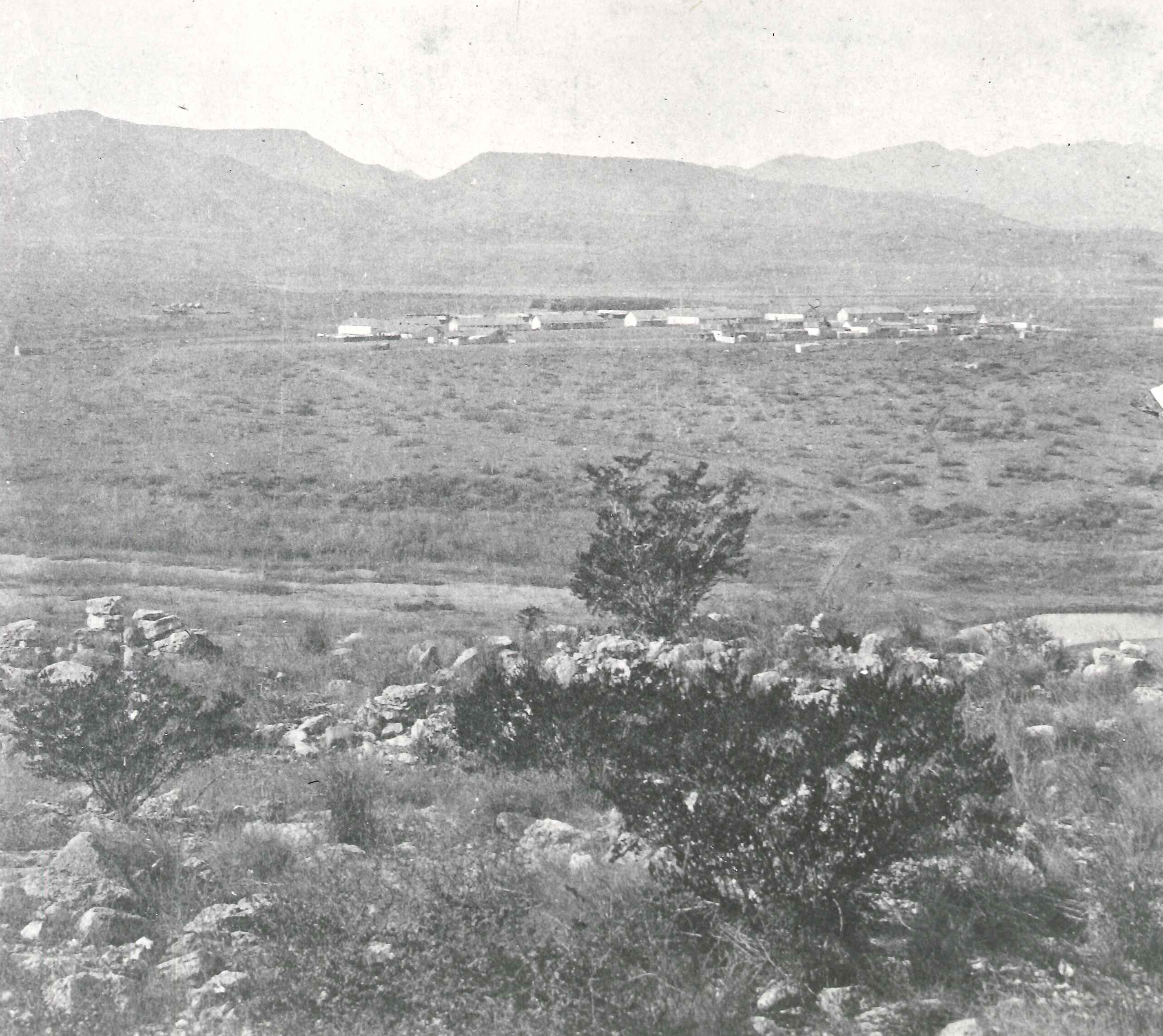 Mid to late 1880s birds eye view of Verde and surrounding countryside at the time
