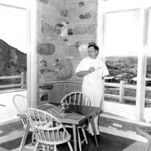 undated photo of Dr. Hall at his home
