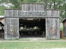 This what the blacksmith shop looks like at the Farm Museum.
