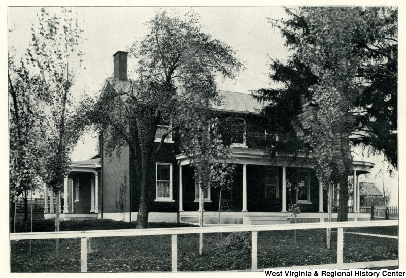 The Vance Farmhouse shortly after becoming the Agricultural Experiment Station. Photo, 1901, courtesy the West Virginia and Regional History Center, WVU Libraries.