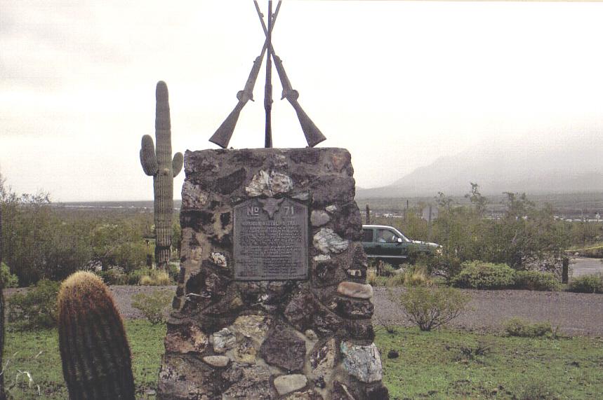 Mormon Battalion Marker in Picacho Pass State Park