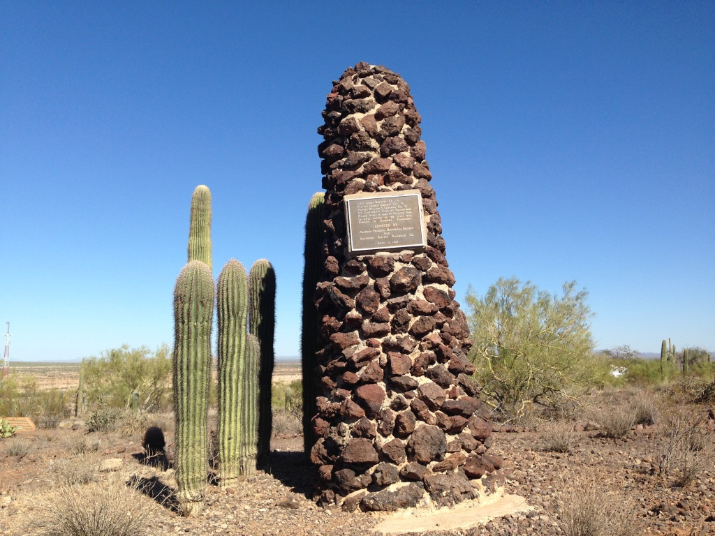Monument to the Union dead of Picacho Pass erected in 1929