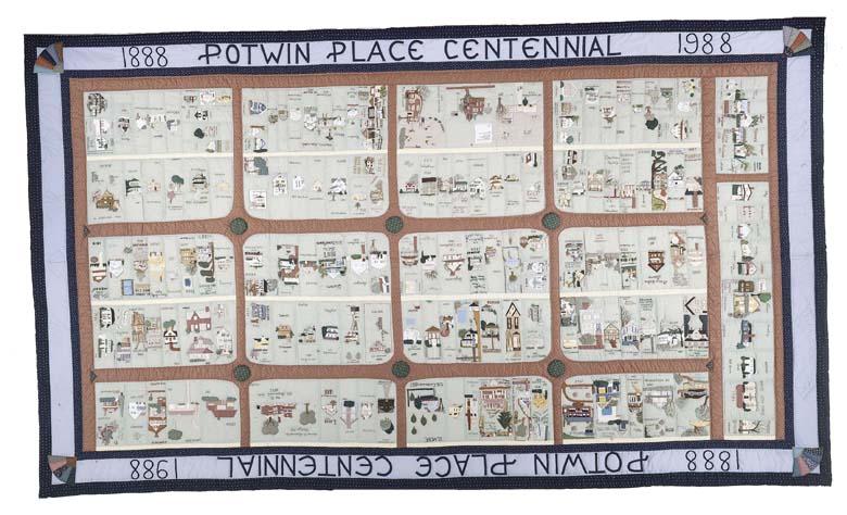 Potwin Place Centennial Quilt, made in 1988