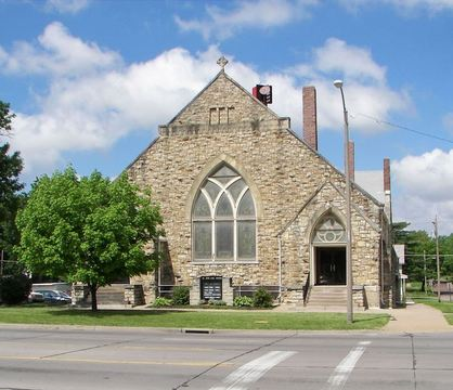 St. John AME Church in Topeka, showcasing Gothic Revival-style architectural influences