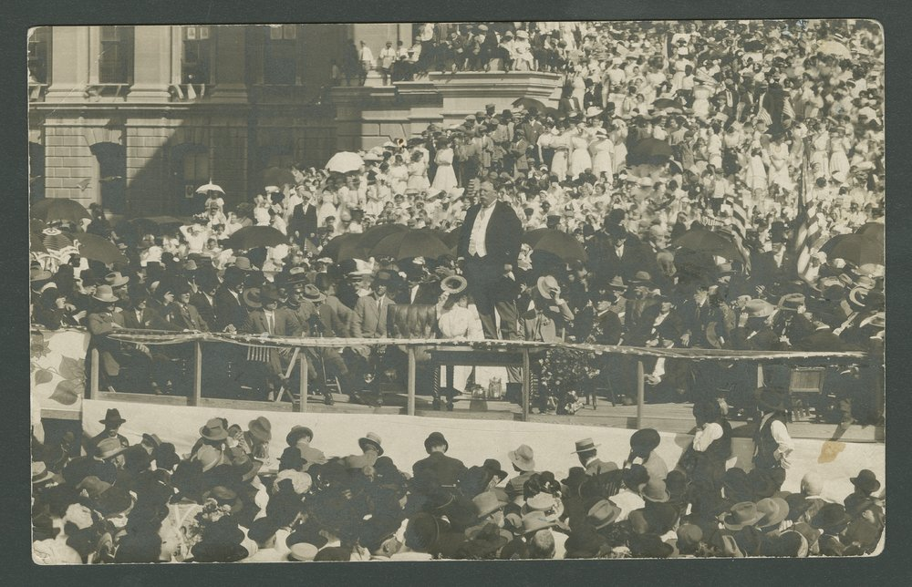 President Taft dedicating the cornerstone of the building, 1911