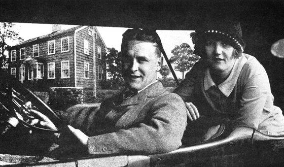 Portrait of Zelda and F. Scott Fitzgerald.