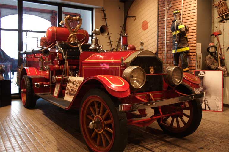 The museum posseses over 10,000 artifacts spanning centuries of firefighting, including multiple models of fire engines. Image obtained from Elegant Affairs Caterers.