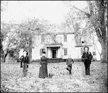 Historical Photo of Rosedale Plantation Exterior and Inhabitants, undated