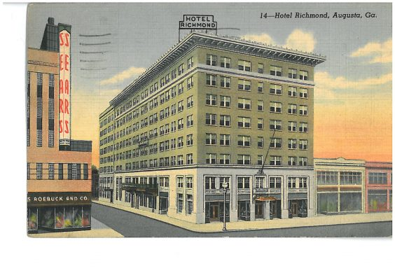 Richmond Hotel on Former Site of Albion Hotel West Wing. J.C. Penny Storefront to Left