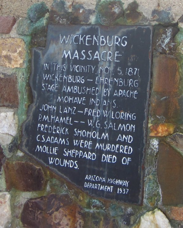 Wickenburg Massacre monument plaque