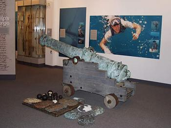 One of the bronze canons