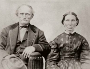 A portrait of William Henry Deuel and his wife Eliza Avery Whiting. Courtesy of Daughters of Utah Pioneers