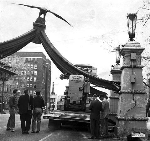 Eagle Monument in 1960