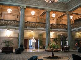 Main lobby inside. State is of Prophet Joseph Smith, founder of the LDS church