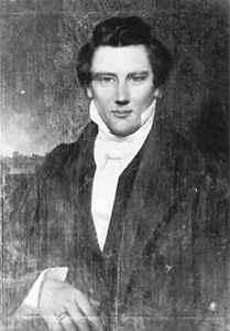 Only known portrait of Joseph Smith done in Nauvoo, Illinois before his martyrdom in 1844.