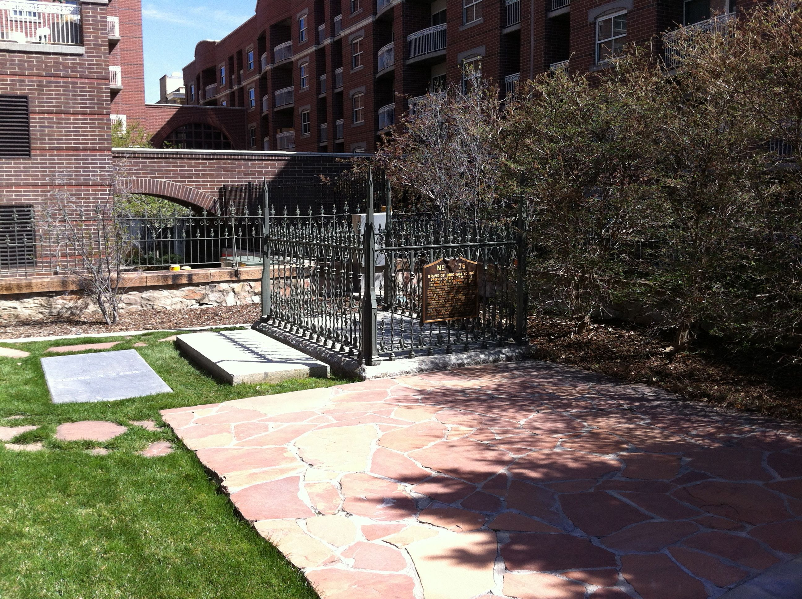 Some of the plots in the cemetery