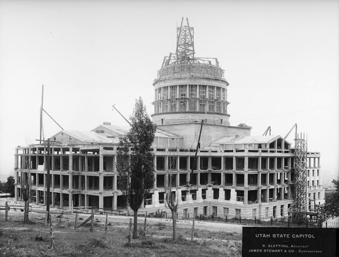 Capitol under construction in 1914