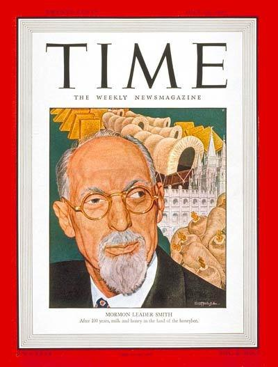 1947 cover of TIME magazine with George Albert Smith