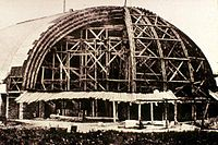 The tabernacle under construction circa 1866