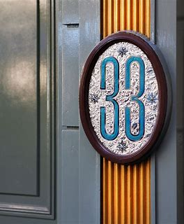 The 33 sign denoting the entrance to Club 33