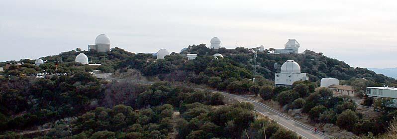 A view of some of the telescopes on Kitt Peak.