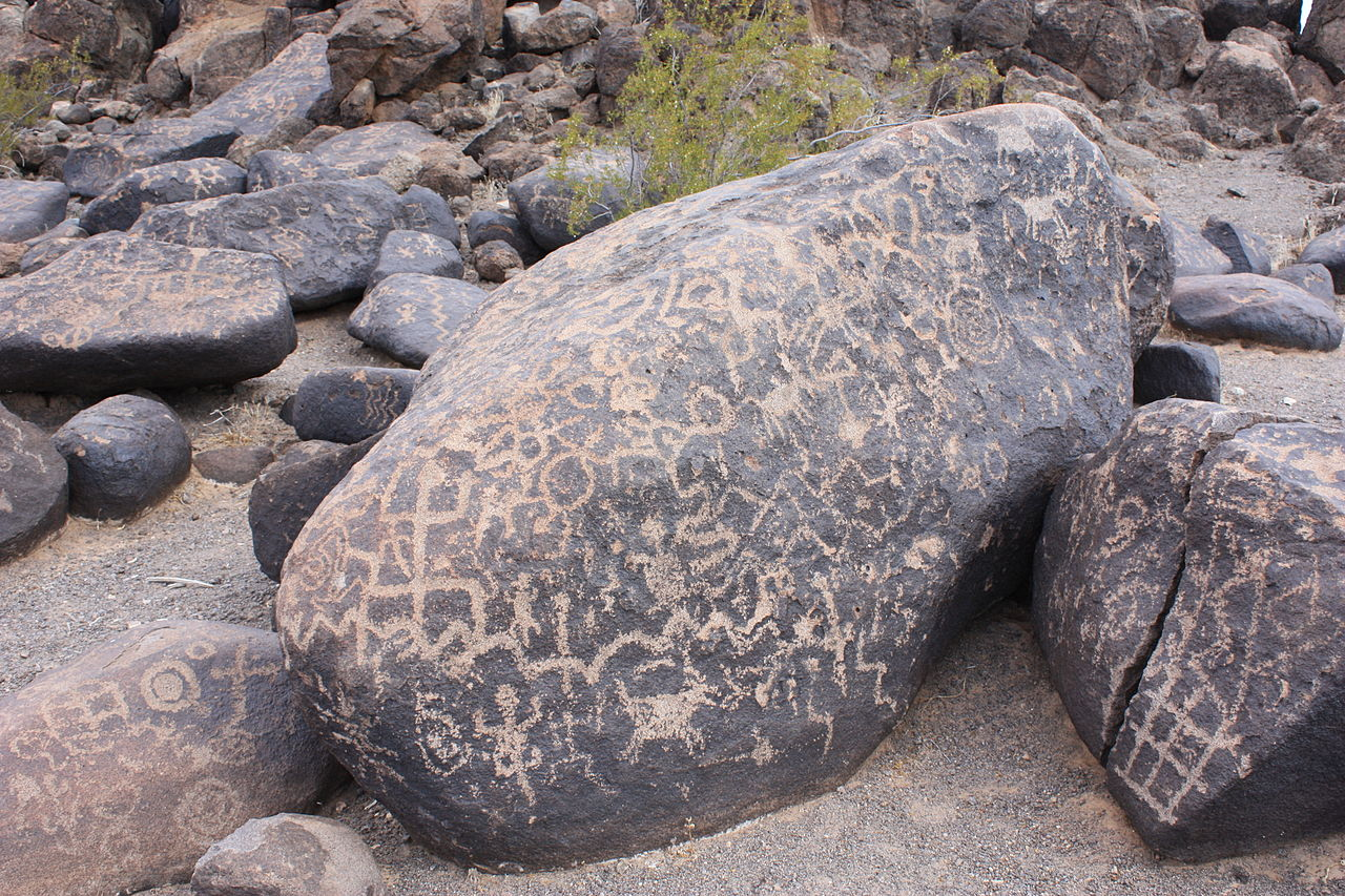 Example of a painted rock