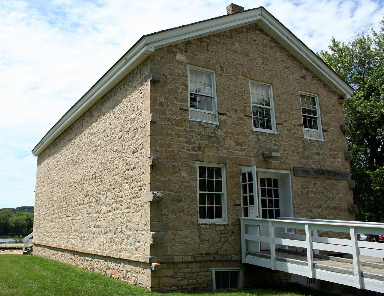 The Astor Fur Warehouse, now the Fur Trading Museum