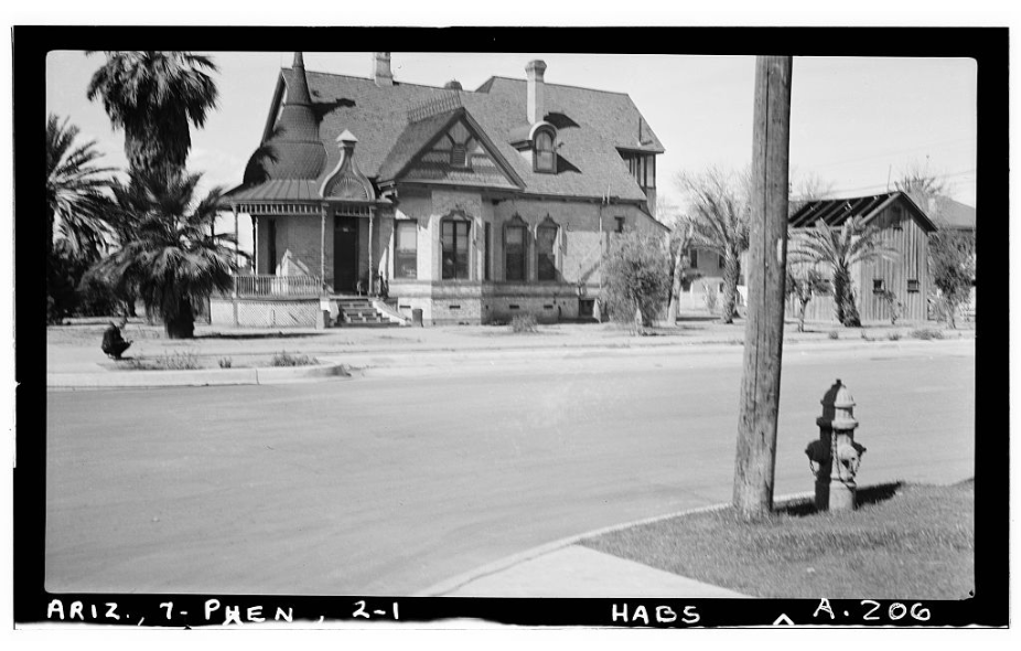 The Evans House in 1940. Courtesy of the Library of Congress
