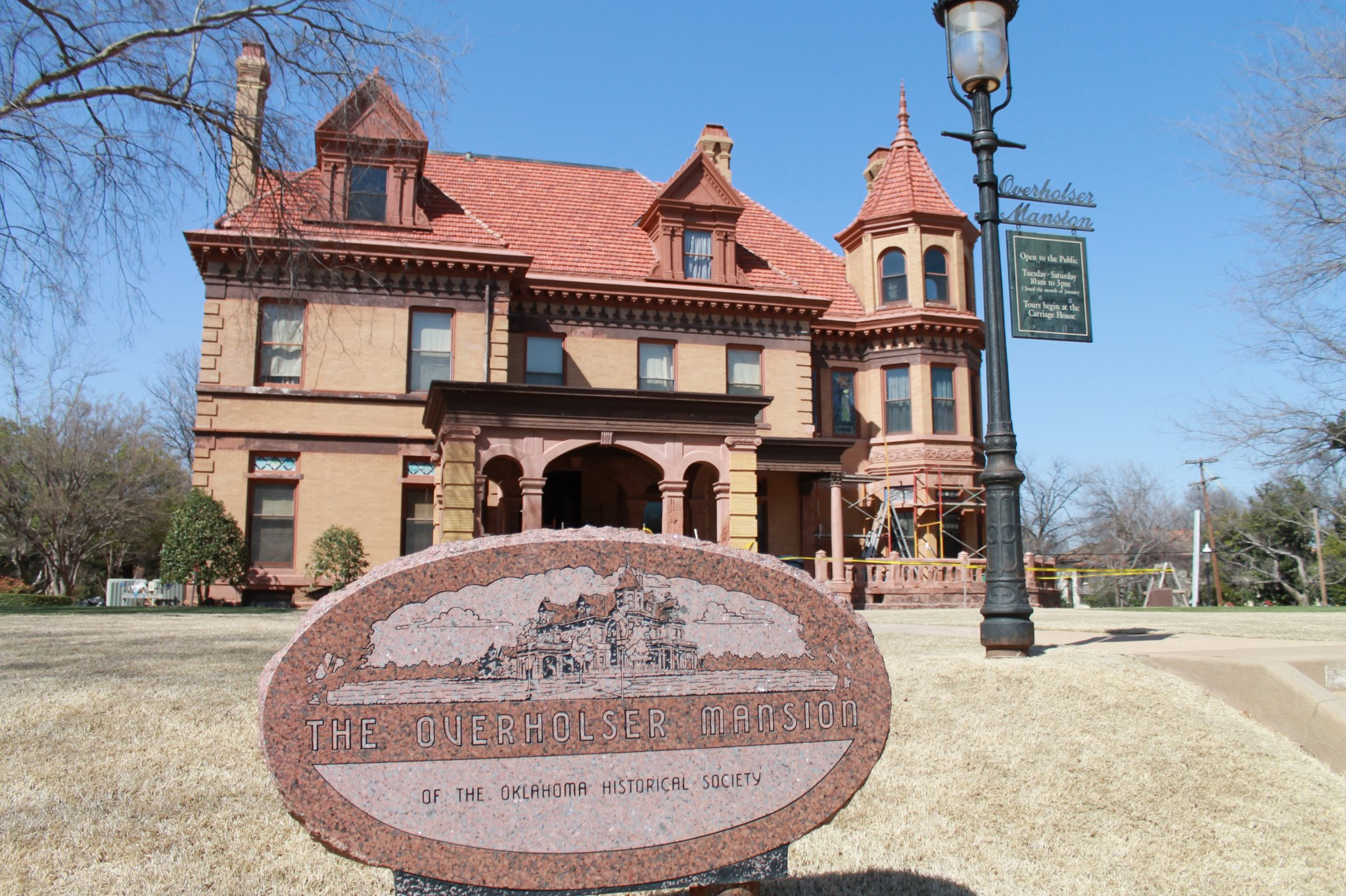 The Overholser Mansion was sold to the Oklahoma Historical Society in 1972 allowing for its preservation.