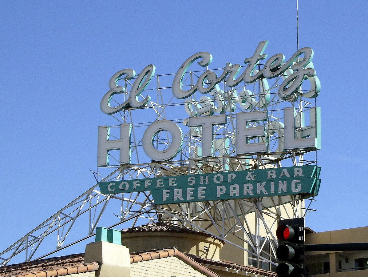 The sign of El Cortez.