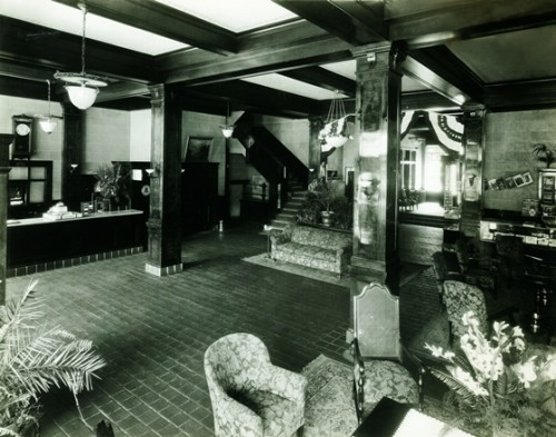 The original hotel lobby.