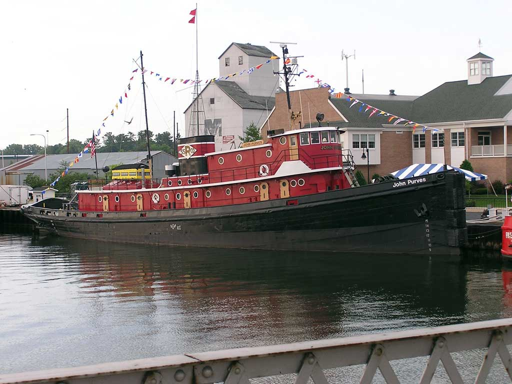 The restored tugboat, the John Purves