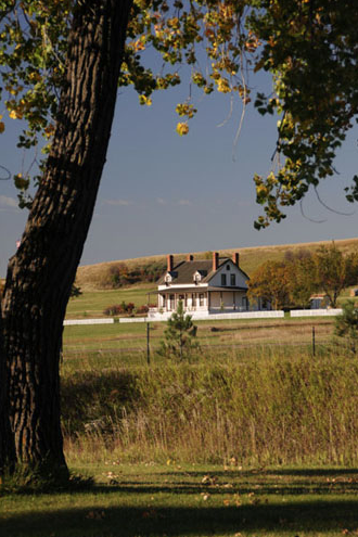The reconstructed George Armstrong Custer's House