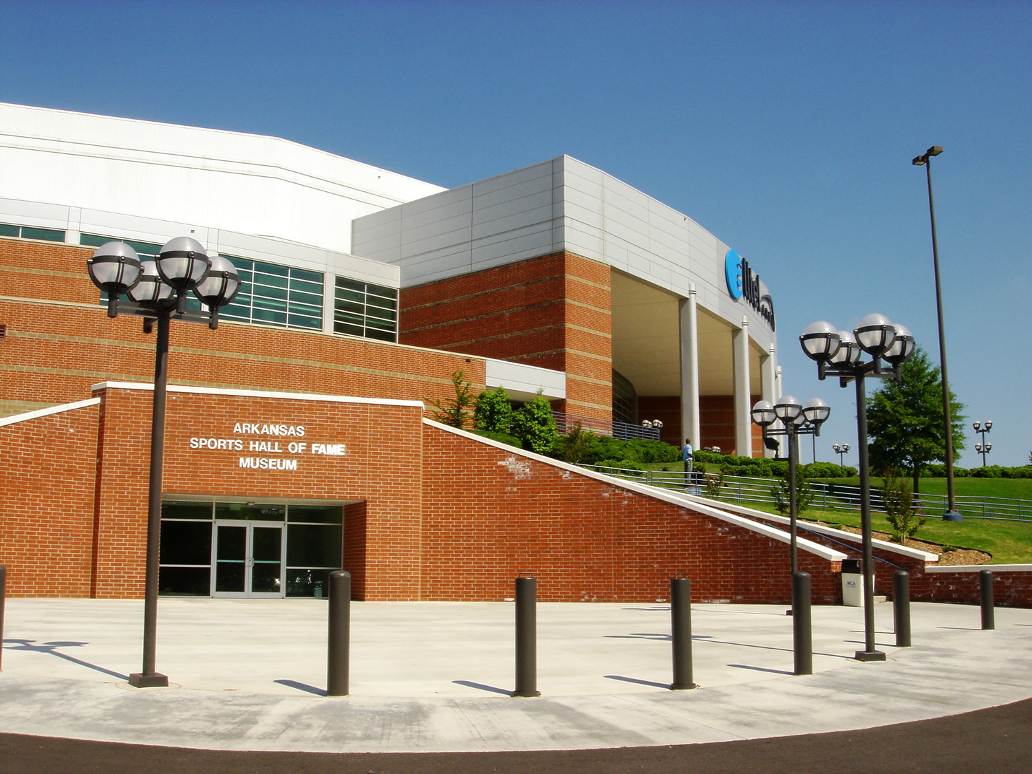 The Arkansas Sports Hall of Fame is located on the west side of the Verizon Arena in North Arkansas